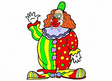 Clown Ausmalbilder